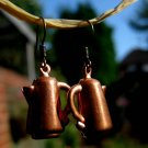 Handmade Earrings - Vintage coffee Pot Charms!