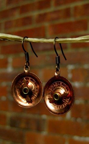 Handmade Vintage Roulette Earrings!