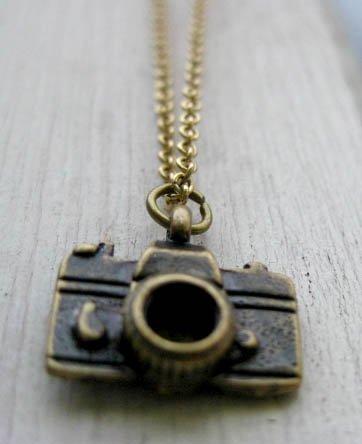 Handmade Tiny Camera Necklace