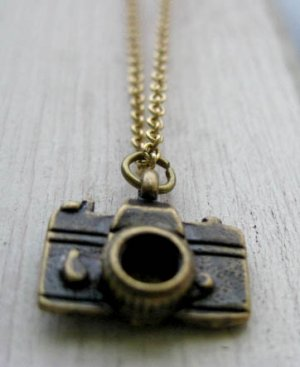 Handmade Tiny Camera Necklace