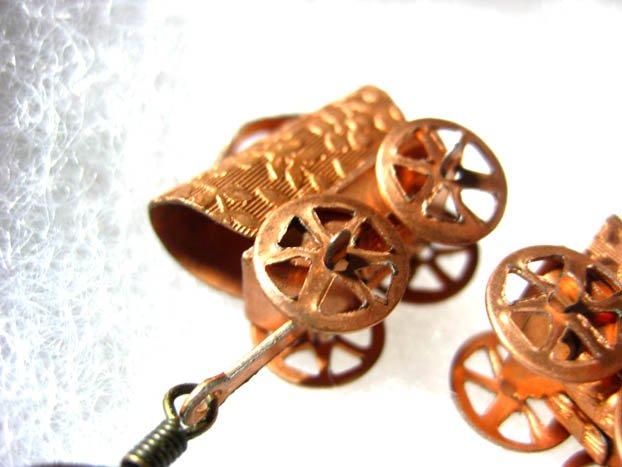 Handmade Vintage Wagon Earrings