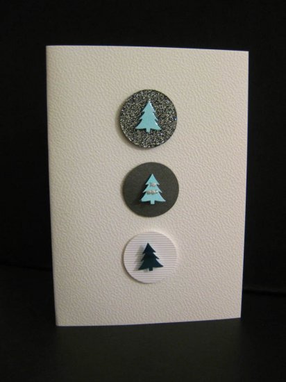 Handmade Three Circles Christmas Card