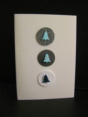 Handmade Three Circles Christmas Card