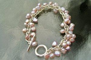 Freshwater Pearl- Silver Cha- Cha Bracelet - New !!