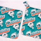 """Miami Dolphins - Green"" Potholder Set"