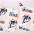 """Miami Dolphins - White"" Potholder Set"