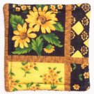 """Sunflowers - Black"" Coaster Set of 4"