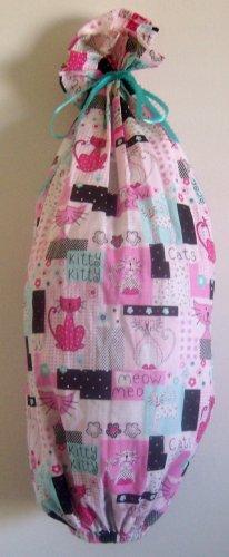 """Retro Kitty"" Grocery Bag Holder"