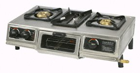Three-way Stainless Steel LP Stove with Grill