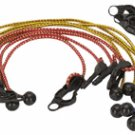 12 Piece Adjustable Tarpaulin Tie Down Cords