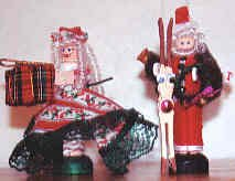 Santa and Mrs. Claus set -white