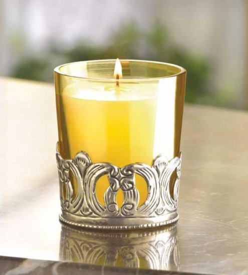 Iron Scroll Votive Holder and Wax