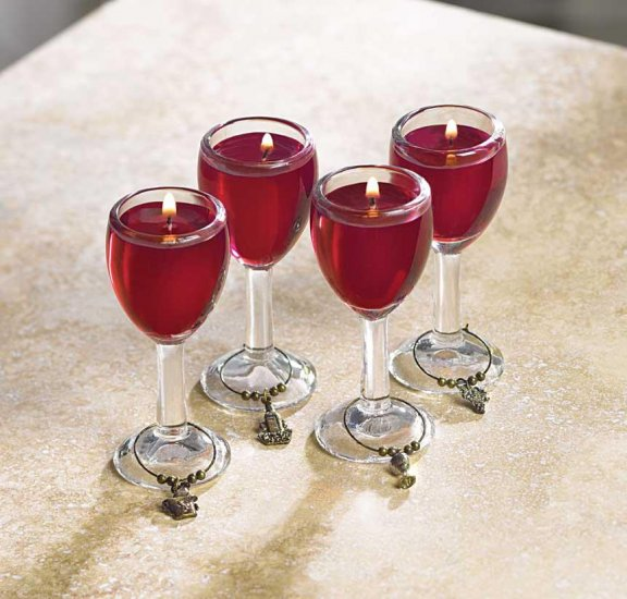Mini Wine Glass Candles