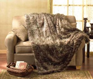 Brown Faux Fur Blanket -Full Size