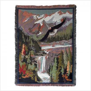 Soaring Eagle Tapestry Throw