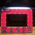 Red w/black bow Frame!