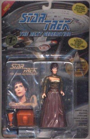 Star Trek TNG Next Generation Lwaxana Troi Playmates Action Figure New Complete