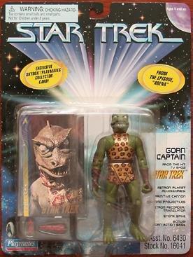 Original Star Trek Gorn Captain Playmates Action Figure New Complete with Card