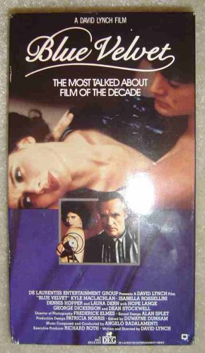 Blue Velvet VHS Brilliantly Disturbing Sexy Film David Lynch Dennis Hopper