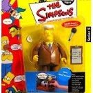 Kent Brockman Newscaster WOS Series Playmates Action Figure World of Springfield Toy