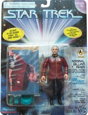 Star Trek TNG Next Generation Admiral William Riker Playmates Action Figure New