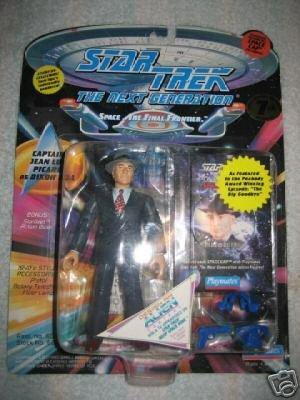 Star Trek TNG Next Generation Captain Picard Dixon Hill Playmates Action Figure New
