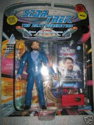 Star Trek TNG Next Generation Commander Riker Malcorian Playmates Action Figure New