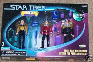 Star Trek TNG Next Generation 1701 Rare Figures Set Picard Yar Barclay Playmates Action Figure New
