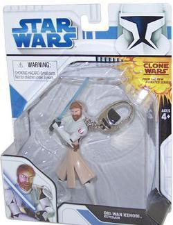 OBI-WAN KENOBI Basic Fun Keychain Star Wars Clone Wars Series 2 Use The Force