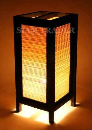 BAMBOO HORIZONTAL THAI HANDMADE WOODEN LAMP