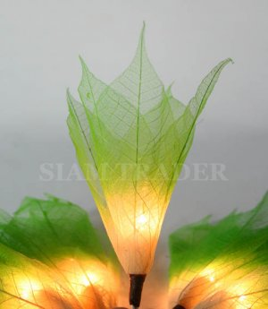 GREEN REAL LEAF FLOWER PARTY / CHRISTMAS STRING LIGHTS