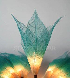 BLUE REAL LEAF FLOWER PARTY / CHRISTMAS STRING LIGHTS
