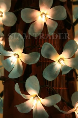 100 BULB BLUE FLOWER PARTY / CHRISTMAS STRING LIGHT