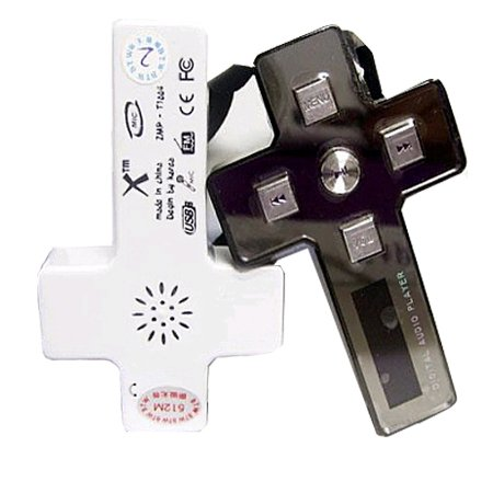MP3 PLAYER CROSS NECKLACE 1GB (6 PIECES)