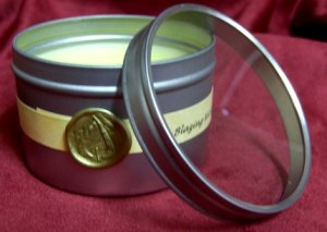 8 oz. Tin Round Clear Top Scented Candle