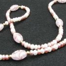 White and Rose Freshwater Pearl Necklace