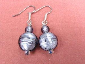 Simply Purple Handmade Glass Earrings
