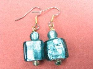 Simply Green Glass Handmade Artisan Earrings