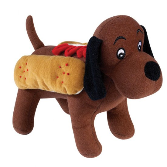 Zanies Halloween Costume Style Dog Squeaky Toys Hot Diggity Dog