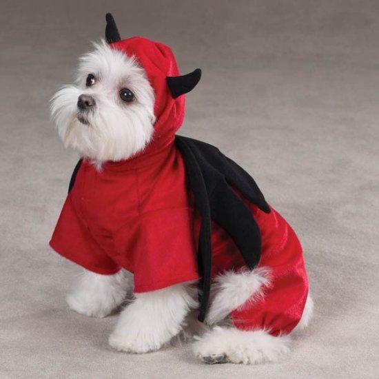 X-SMALL Devil Halloween Dog Costume