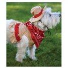 LARGE Cutesy Cowgirl Halloween Dog Costume