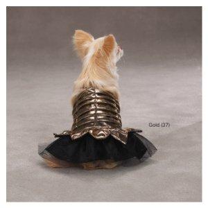 XX-SMALL Princess Dress Halloween Dog Costume Gold