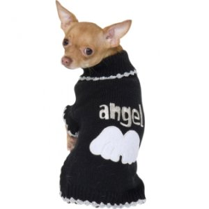 SMALL My Angel Sweater Halloween Dog Costume