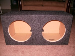 Sealed Dual 10 inch MTX speaker Box