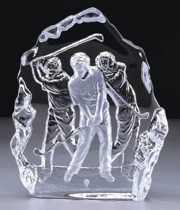 Crystal Golfer Sculpture