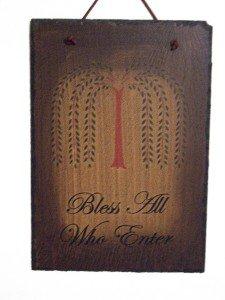 Williow Tree Slate Sign