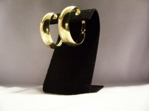 Large Yellow Gold Alloy Hoop Fashion Earrings 35mm