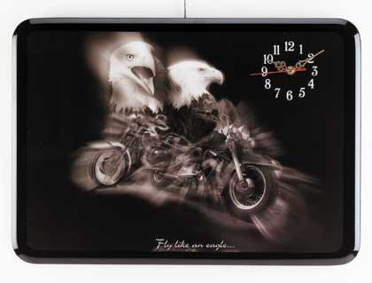 Eagle and Motorcycle Wall Clock