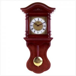 Wood Wall Clock With Chime