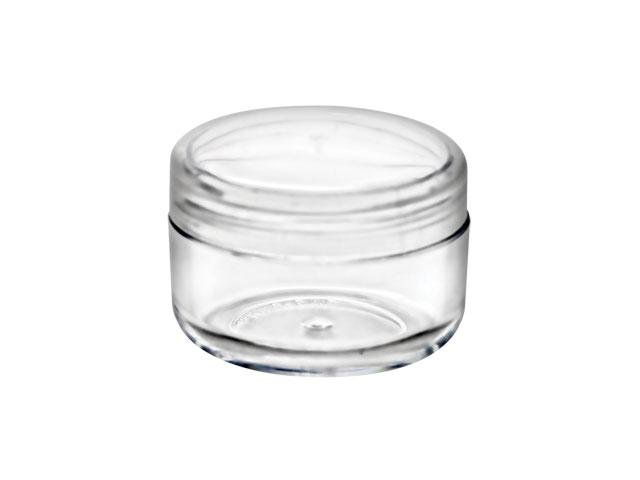 Free Shipping Lot 300 - 6ml clear jar with natural cap